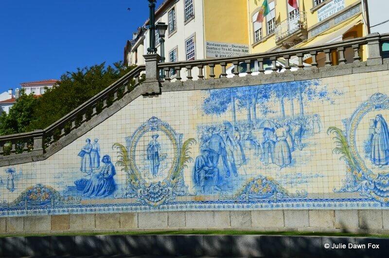 Azulejos at Praça República, Viseu