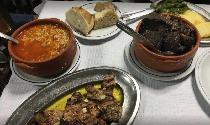 Hearty Portuguese food at Zé Manuel dos Ossos restaurant in Coimbra