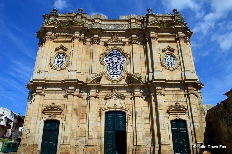 Santa Maria de Salzedas church façade, Salzedas, Douro valley wine region, Portugal