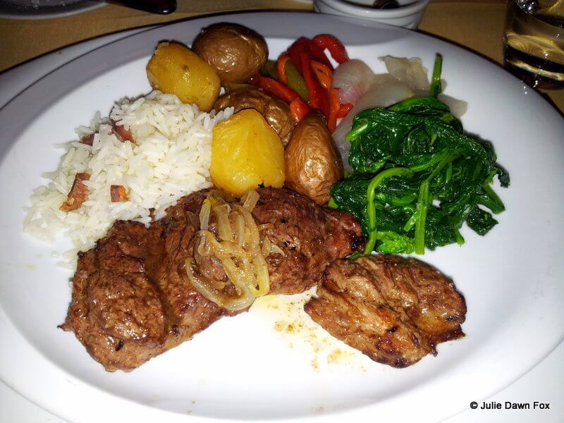 Veal with vegetables