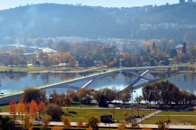 View of Coimbra's Green Park and the Mondego river