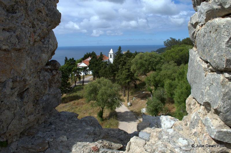 Church of Nossa Senhora do Castelo, Sesimbra, viewed from battlements