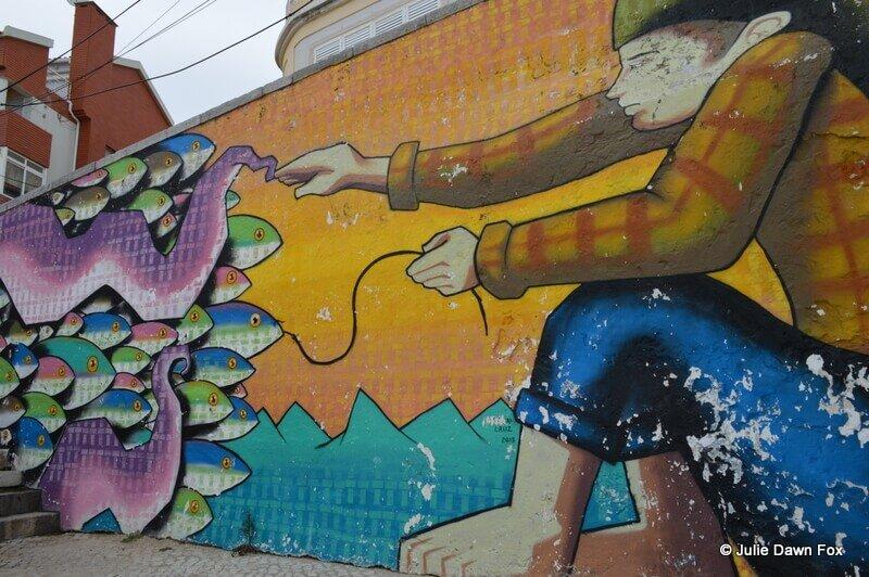 Fishing street art, Sesimbra