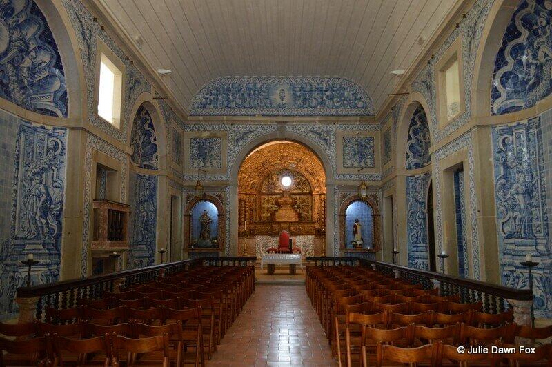 Interior, Church of Nossa Senhora do Castelo, Sesimbra, Portugal