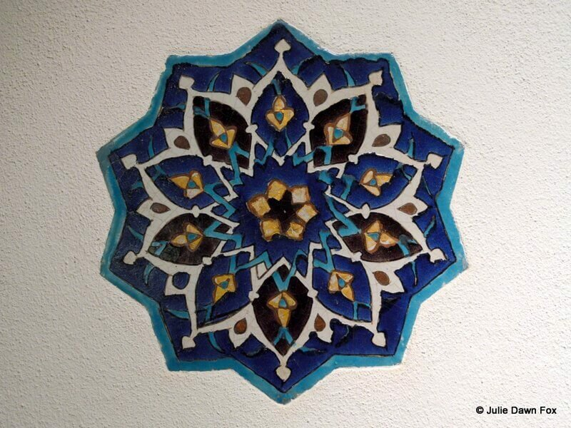 Turkish star ceramic, Gulbenkian Museum, Lisbon