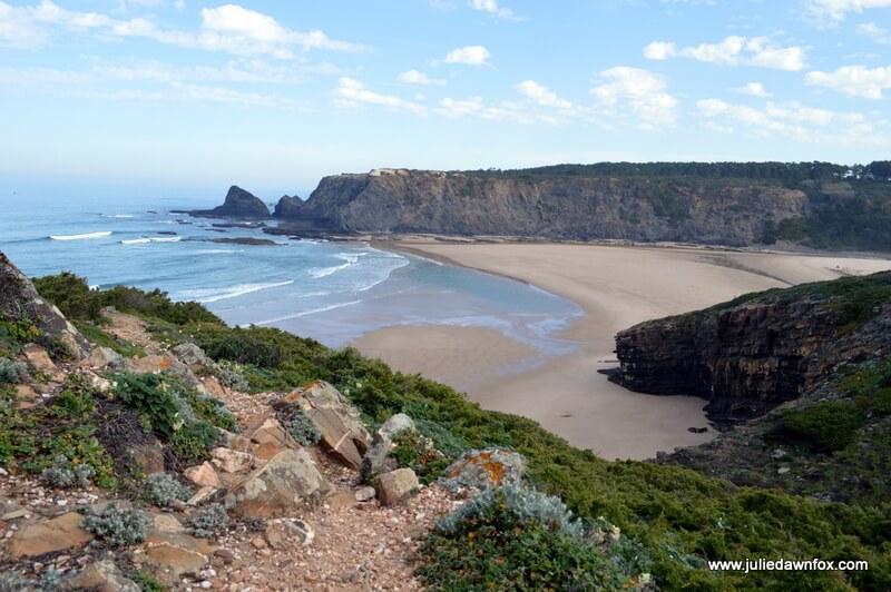 Odeceixe beach and Praia de Adegas. On an Odeceixe coastal walk on the Rota Vicentina Fisherman's Route