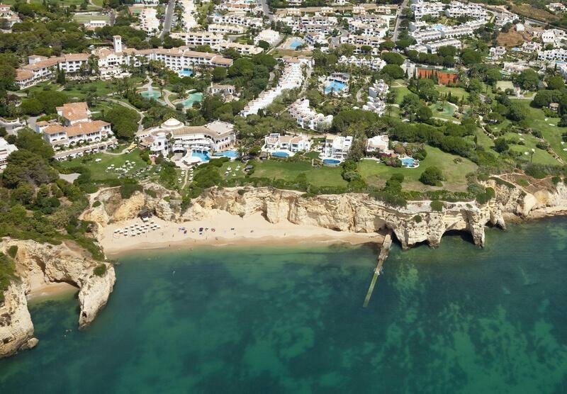 Aerial view of Vila Vita Parc. Where to stay in the Algarve Portugal