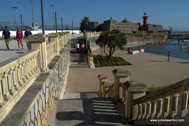 Steps to Santa Catarina fortress, Figueira da Foz, Portugal