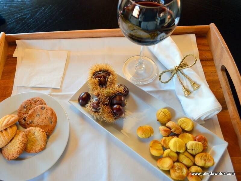 Chestnuts, wine and homemade cookies, RinoTerra
