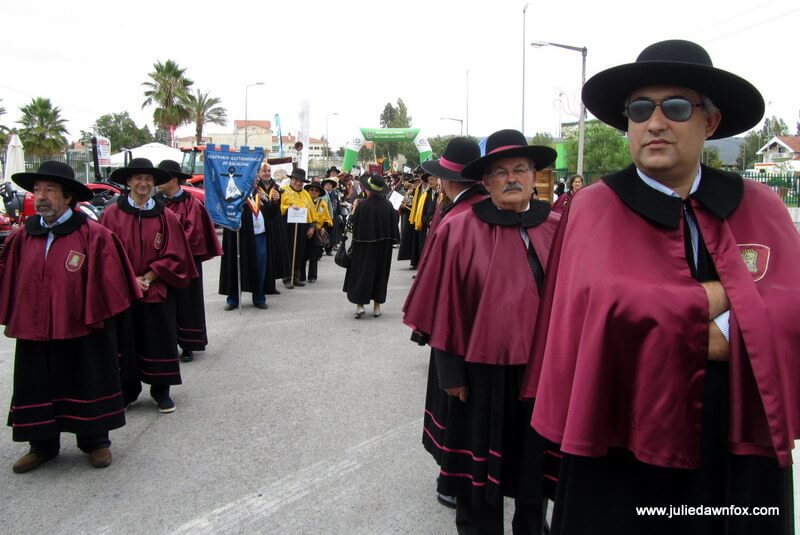 Confrarias parade through the streets of Vila Nova de Poiares, Portugal