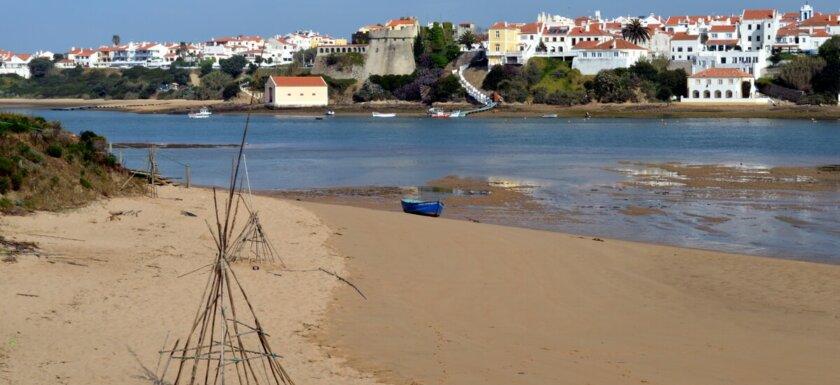 Beach and boat, Vila Nova de Milfontes, Portugal