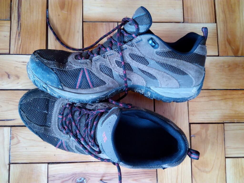 My well-worn Colombia Redwood breathable, waterproof walking shoes