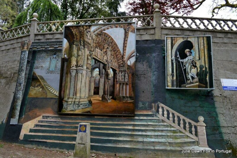 Mural near Orbenlle on the Portuguese Way of St. James