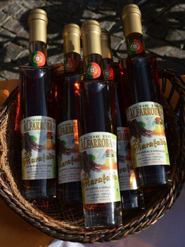 Licor de alfarroba, carob liqueur, Loulé, Algarve, Portugal. Photography by Julie Dawn Fox