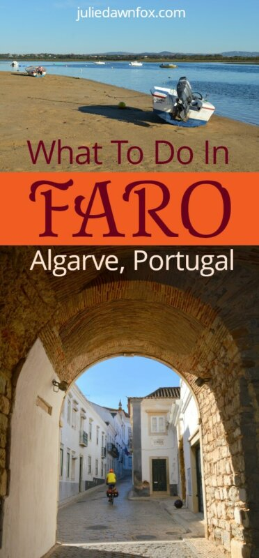 What to do in Faro Portugal. Beach and boats plus ancient archway