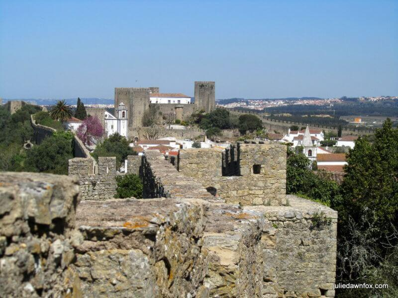 Óbidos castle and walls, central Portugal