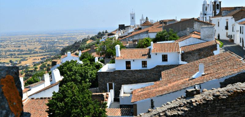 Monsaraz village, Alentejo, Portugal, viewed from the castle