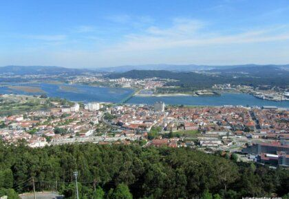 View of Viana do Castelo and River Lima from Santa Luzia