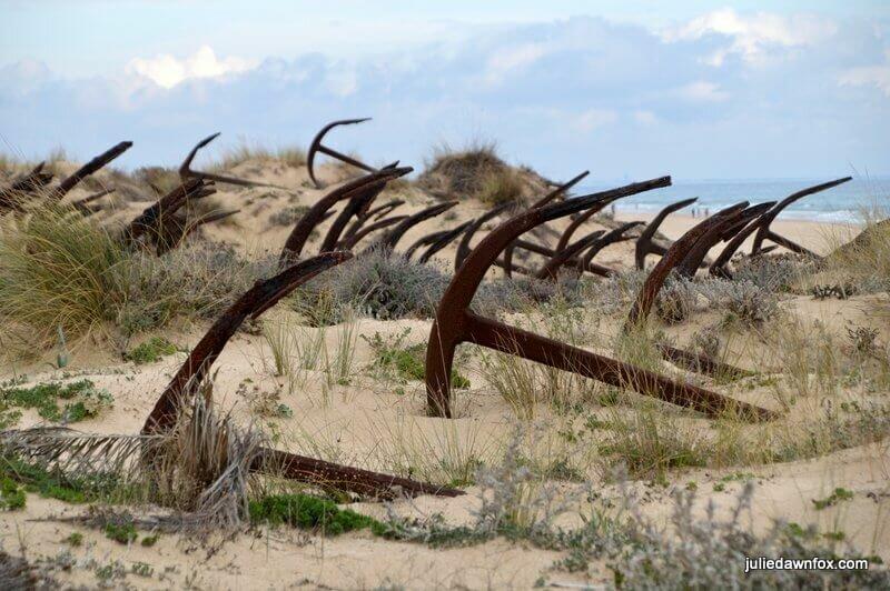 Anchor cemetery, Praia do Barril, Algarve