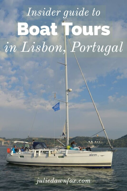 Sailing boat on the River Tagus. Lisbon boat tours