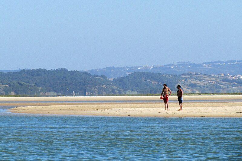 Foz do Arelho lagoon beach, Central Portugal