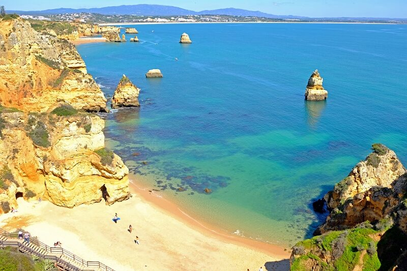 Praia Dona Ana in the Algarve Lagos. Possibly the most beautiful beach in Portugal