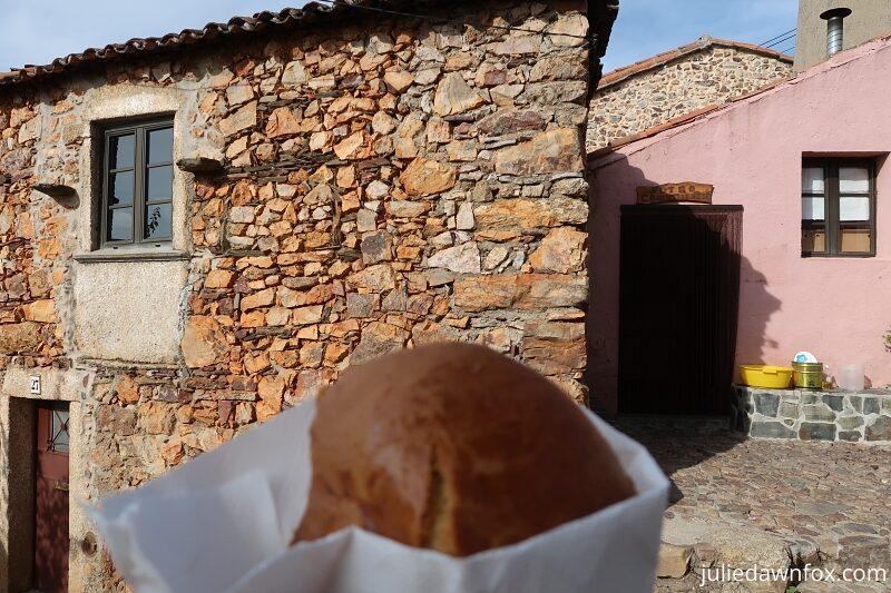 Bread-cake from the community bakery in Penha Garcia