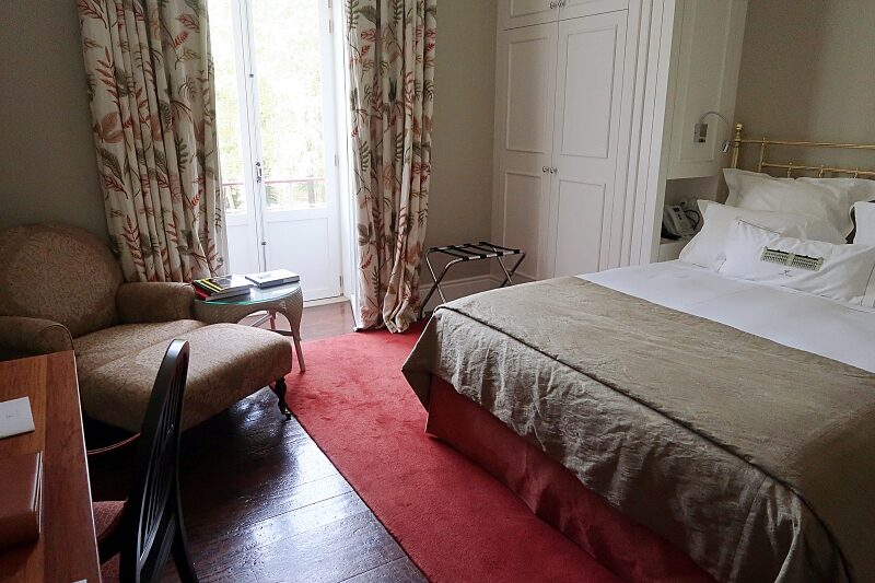 Classic guest bedroom, Vidago Palace Hotel, Portugal