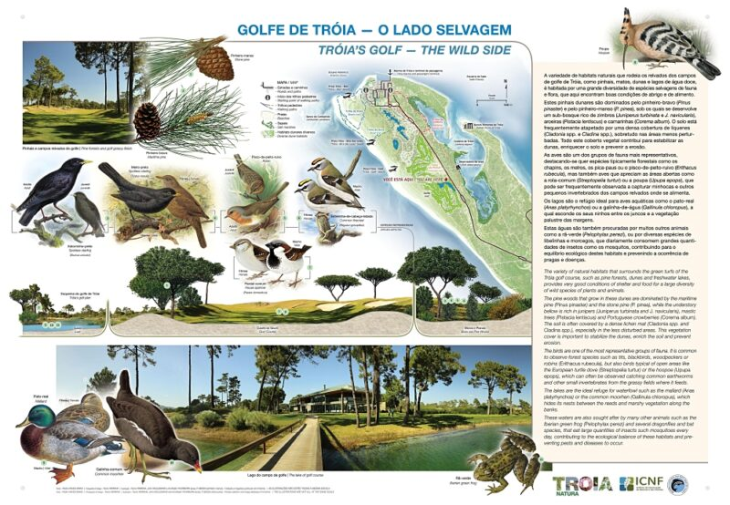 Notice board of nature at Troia Golf