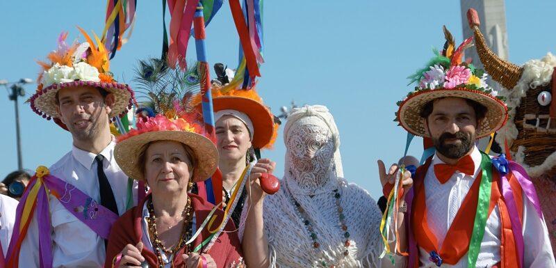 Group shot, Iberian Masks Festival