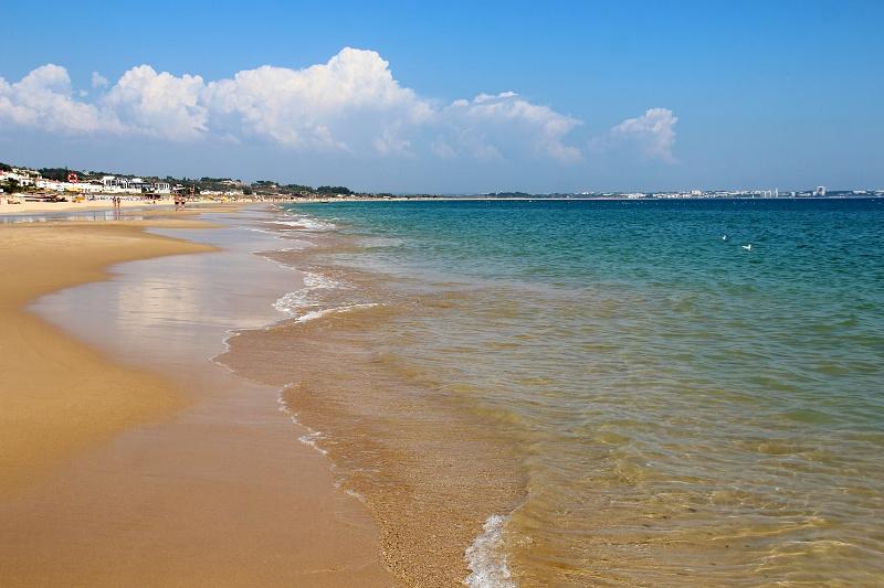 View of Meia Praia beach in Lagos, Algarve, Portugal