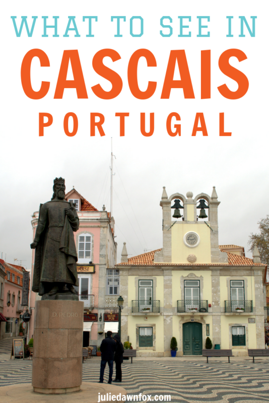Statue in town square. The lovely coastal town of Cascais is only a 40-minute train journey from Lisbon, Portugal, and well worth a day trip. But with its natural wonders - including stunning beaches - and its amazing art, you'll want to spend more time there, so be sure to check out these great accommodation tips!