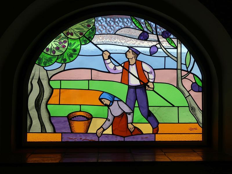 Stained glass window, Casa da Nora, Leiria, Portugal