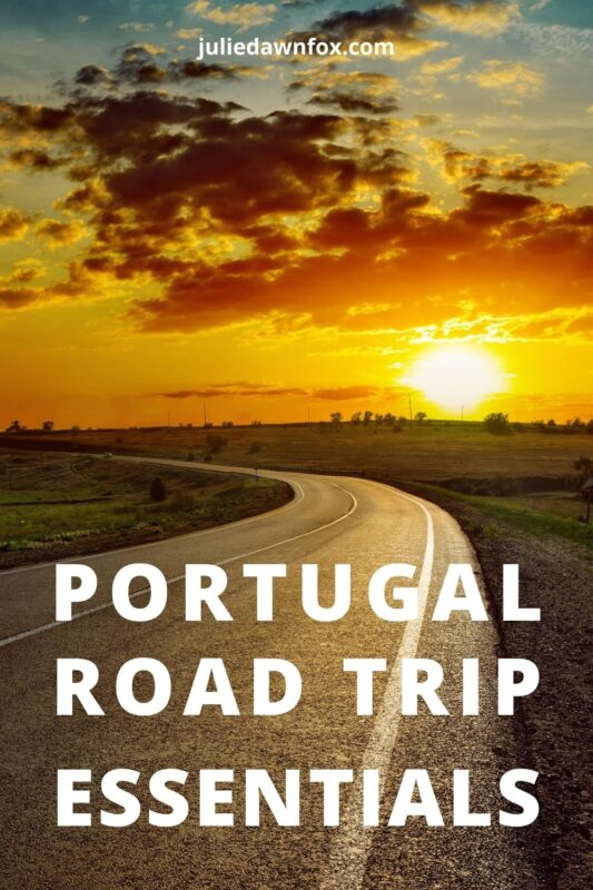 Sunset over road. Portugal Road Trip Essentials.