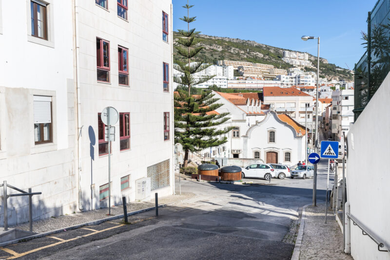 Architecture detail of house and typical building in Sesimbra