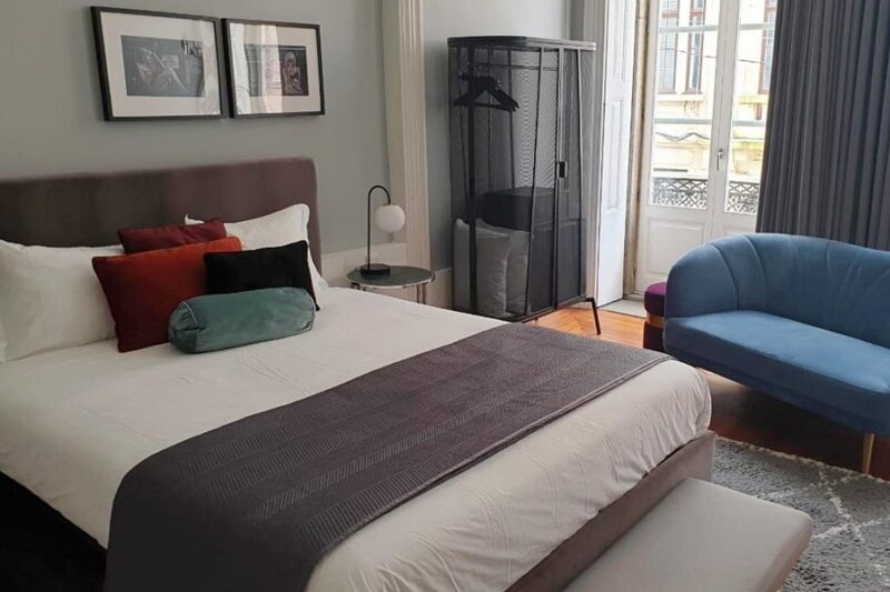 Bedroom at White Box House, a boutique guesthouse in Porto