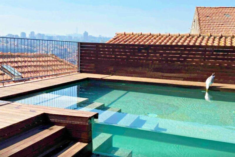Terrace and pool at PippaDouro Apartments Porto