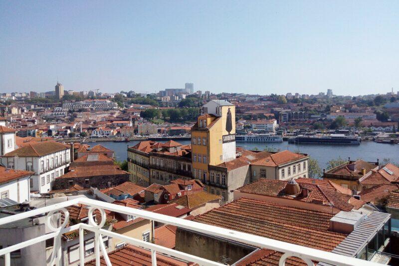 View of river from balcony, RVA Sao Joao Nova Apartments, Porto.