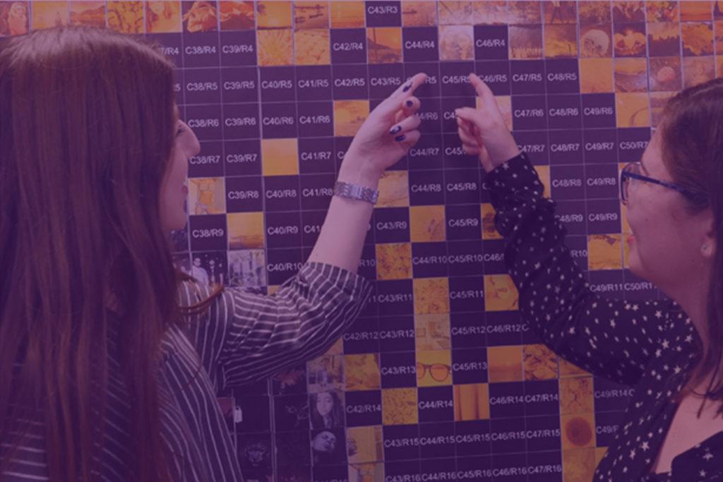 Photo Booth Mosaic Wall