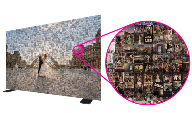 photo mosaic wall hire