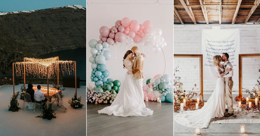 Small and intimate wedding inspiration.