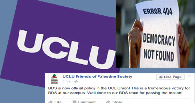 ucl antisemitism bds