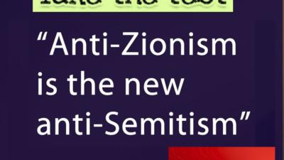 anit-Zionist test