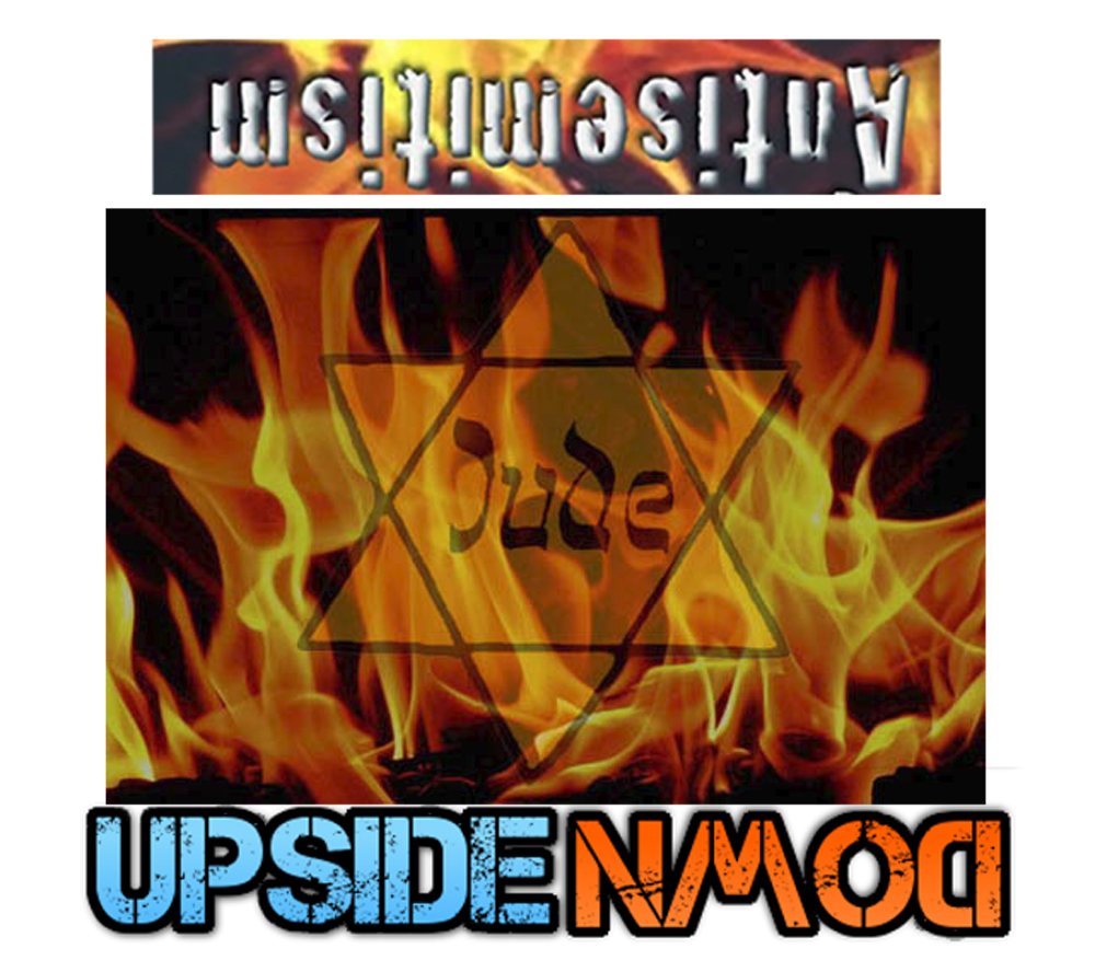 antisemitism upside down