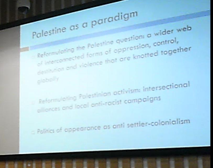 University of Sussex, Palestine as Paradigm