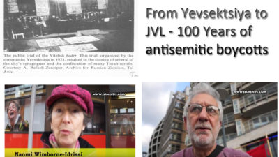 Yevsektsiya AND JVL antisemitic boycotts