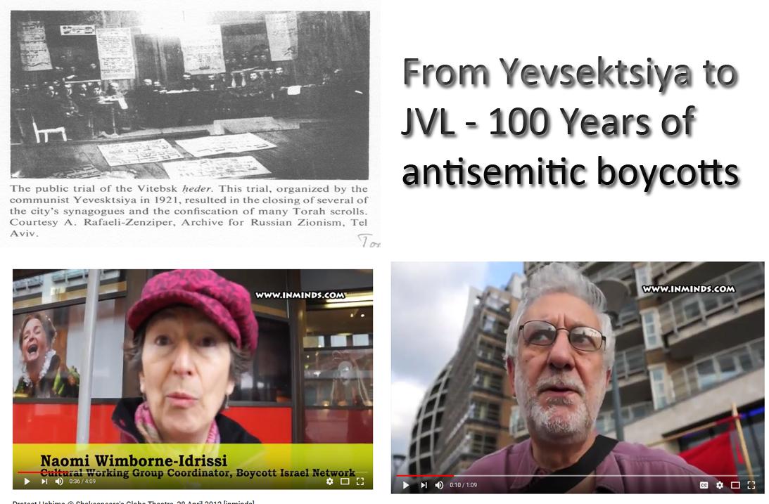 Yevsektsiya AND JVL antisemitic boycotts