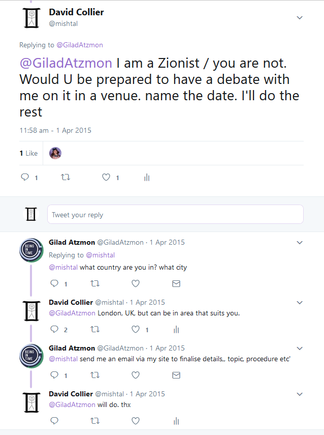 a few interesting tweets - atzmon-collier
