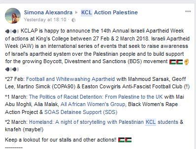Apartheid Week at KCL