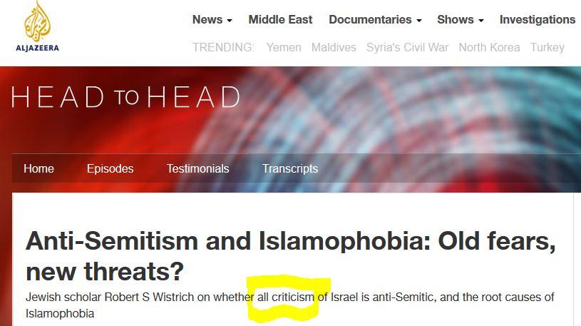 antisemitism to deflect criticism